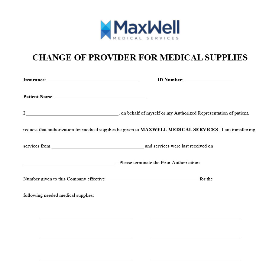 Maxwell-Change-of-Provider-Form